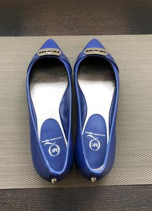 Балетки( лодочки, туфли ) alexander mcqueen electric blue. оригинал. 37 размер