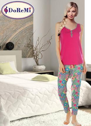 Піжама/пижама майка/футболка/капри