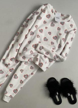 Новая милейшая пижама в сердечки sinsay