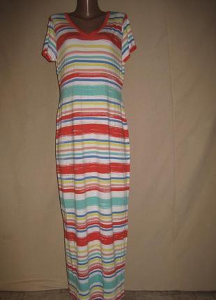 Длинное вискозное платье спенсер р-р14