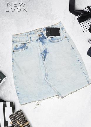 Джинсовая светлая юбка new look