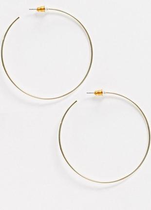 🌼 модные серьги-кольца гвоздики от асос оригинал с сайта asos