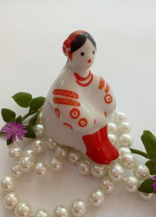 Калина киевский экхз девушка украинка фарфоровая статуэтка миниатюра