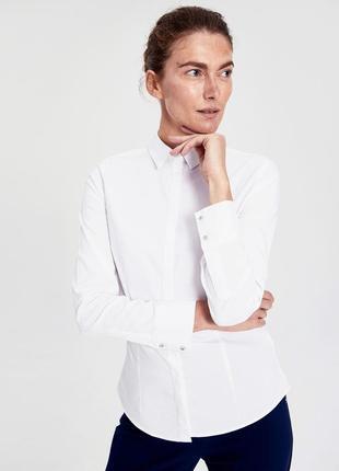 #розвантажуюсь женская блузка белая lc waikiki / лс вайкики  с кристаллами, на пуговицах2 фото
