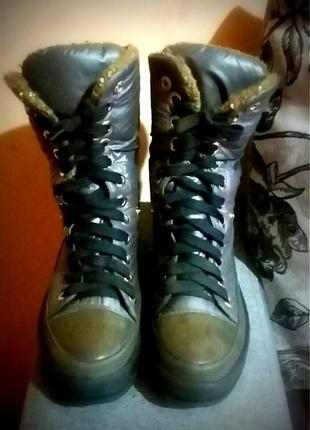 Супер крутые зимние ботинки 2 в 1 р.37