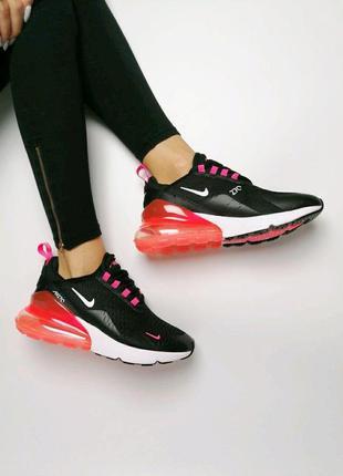 Женские кроссовки черные air max 270
