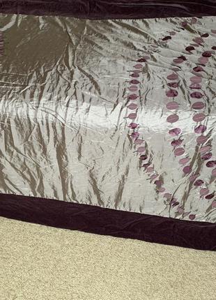 Лиловый комплект 2 покрывала и 2 наволочки на кровать пододеяльник