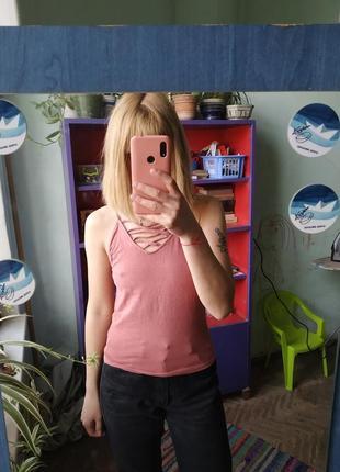Маечка с переплетом/майка/майка на брителях/футболка