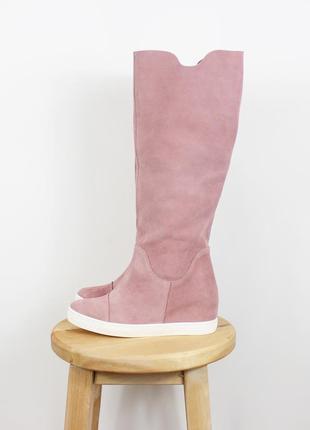 Новые розовые сапоги на платформе r. polanski