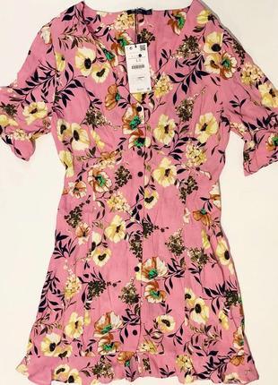 Цветочное платье bershka