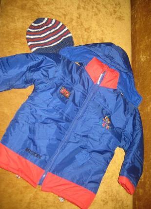 Куртка зимняя + подарок шапка