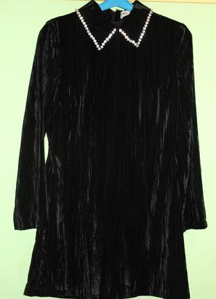 Платье велюр zara р. xs