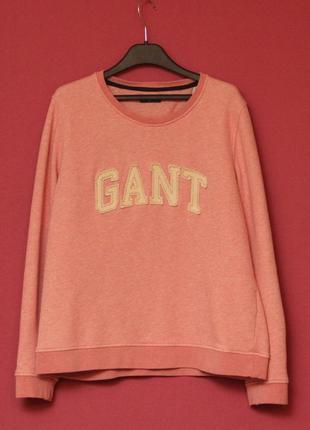 Gant m-l меланжевый свитшот из хлопка