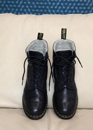 Кожаные ботинки dr. martens на меху, оригинал