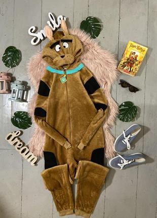 Теплая флисовая пижама кигуруми слип scooby-doo скуби-ду №27