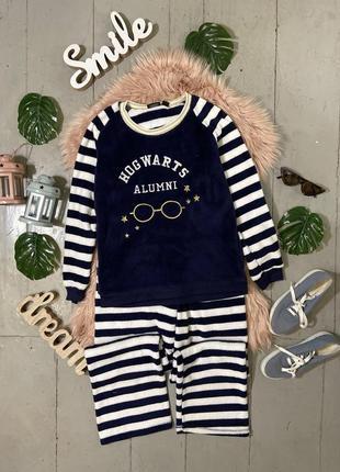 Нежная теплая флисовая пижама мерч гарри поттер №28