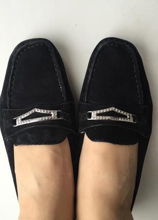 Кожаные мокасины geox замшевые р.37-37,5 туфли балетки оригинал