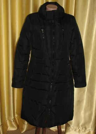 Пуховик пальто женский черный фирменный ltb р. 46