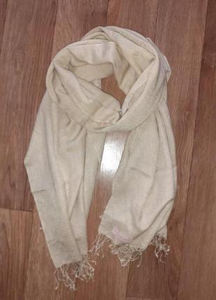 Большой теплый шарф палантин шаль пашмина кашемир шелк непал