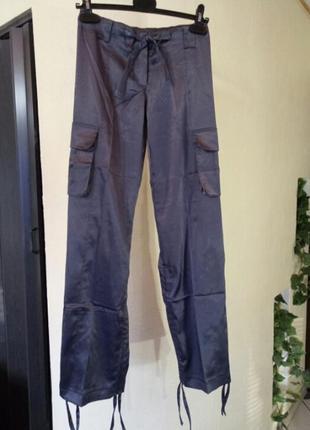 Стрейчевые джоггеры,брюки-карго с накладными карманами