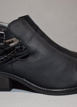 Ботинки noiz туфли ботильоны женские кожаные. оригинал. 41 р./27 см.
