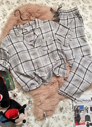 Крутая пижама в клетку с люрексовой ниткой
