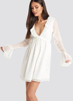 Na-kd шифонова невагома кремова сукня
