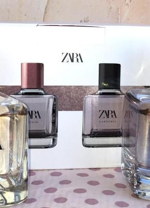 Духи zara gardenia/orchid в наборе /парфюм/парфуми /туалетная вода /туалетна вода