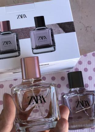 Духи zara gardenia/orchid в наборе /парфюм/парфуми /туалетная вода /туалетна вода2 фото