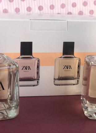 Духи zara fruity/oriental в наборе /парфюм /туалетная вода/парфуми/туалетна вода2 фото