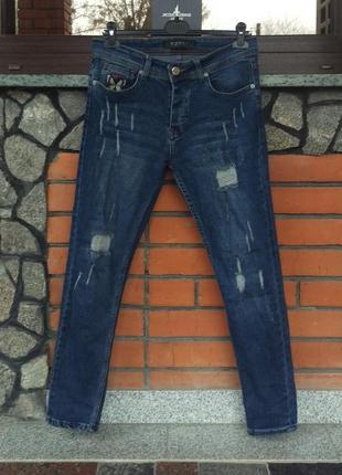 Gucci женские джинсы c вышивкой, w32