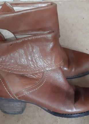 Женские кожаные ботинки (казаки)