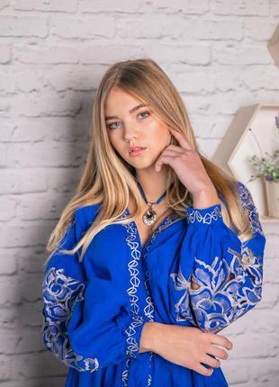 Шикарное платье с вышивкой ришелье