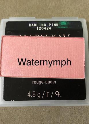 Румяна chromafusion, тон лепестки розы  darling pink (мерцающие) от mary kay
