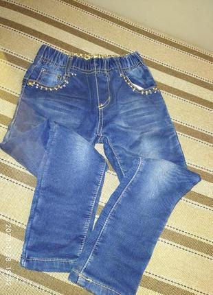 Зимові джинси на 122 см.