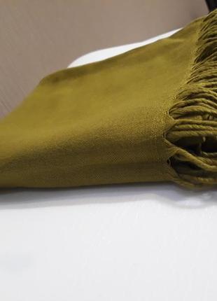♥️красивейшая оливка турецкий кашемировый шарф шаль палантин