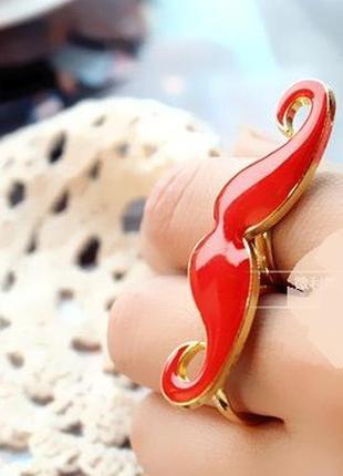 Распродажа! красное двойное кольцо усы, бижутерия колечко