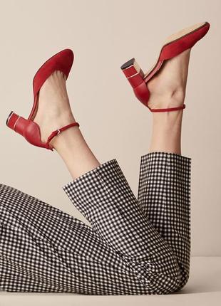 Замшевые туфли /босоножки massimo dutti