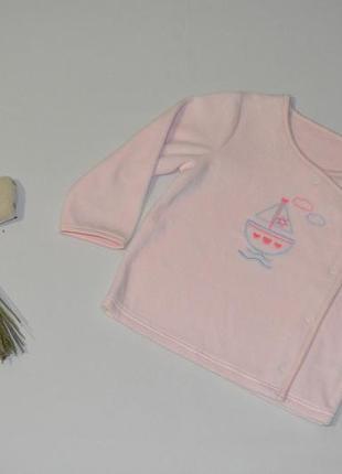 Кофточка велюровая для девочки coo chi coo размер 12-18 мес