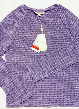 Вельветовый комбинированный свитер