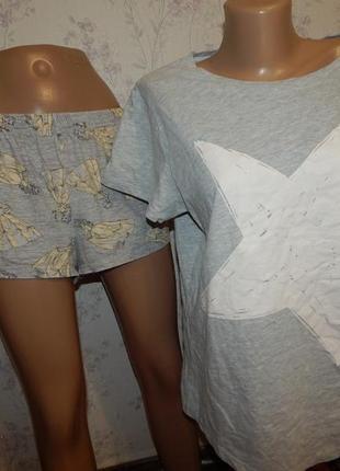 Next пижама трикотажная футболка с шортиками р14-16