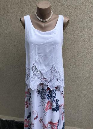Платье,сарафан многослойный,кружево,сетка,этно бохо стиль,вискоза