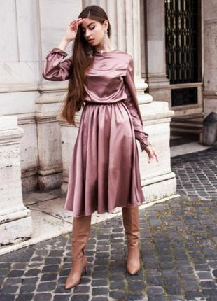 Платье из натурального шелка армани