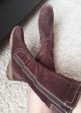 Распродажа!замшевые кожаные теплые зимние сапоги tamaris