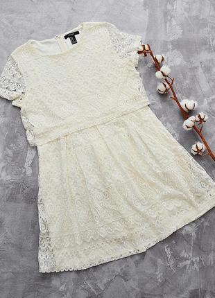 Стильное ажурное платье forever 21