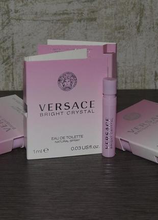 Versace bright crystal 1 мл пробник туалетной воды для женщин оригинал