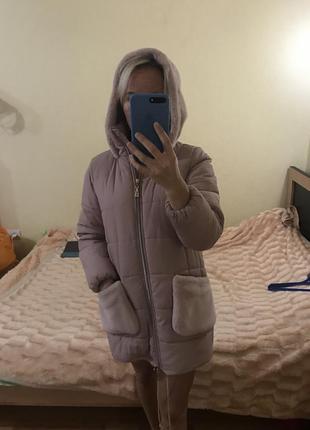 Зимний пуховик,зимняя куртка парка пальто пуховик с капюшоном