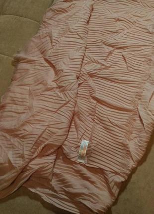 Объёмный палантин, шарф primark нежного розового пудрового  цвета