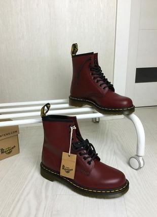 Dr. martens 8 eye 1460 cherry smooth скидка!
