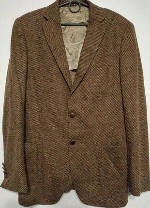 L 50 d's classic slim fit шерсть сост нов пиджак жакет блейзер мужской приталенный винтаж